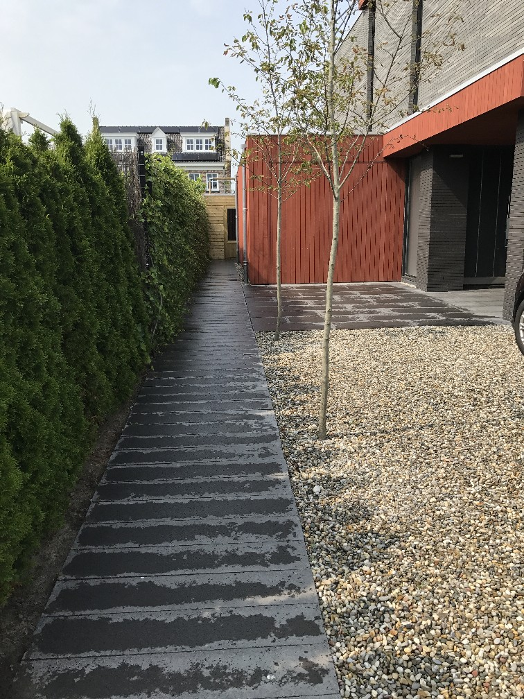 Moderne Tuin Bij Nieuwbouw Groningen